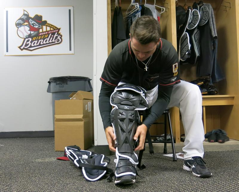 River Bandits catcher Jake Rogers