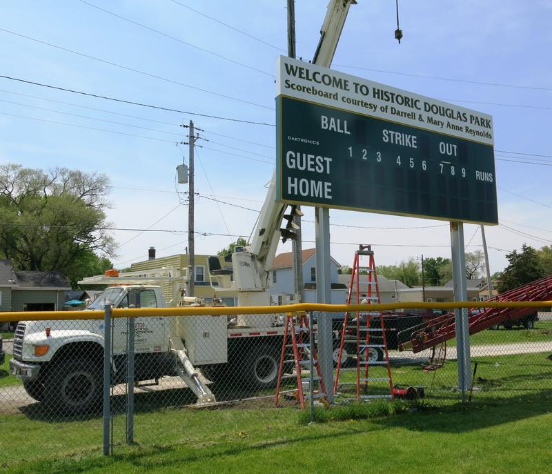 The finishing touches include a new scoreboard