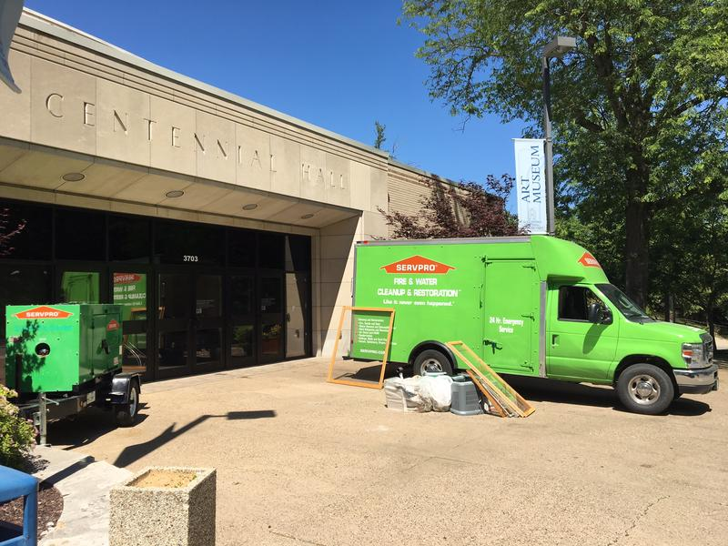 Serv-Pro crews cleaned and sanitized Centennial Hall.