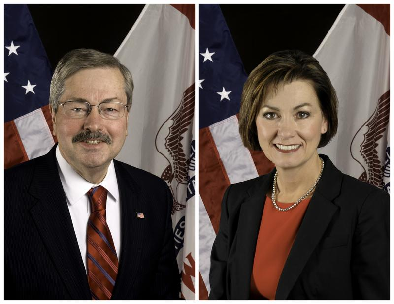 Terry Branstad and Kim Reynolds