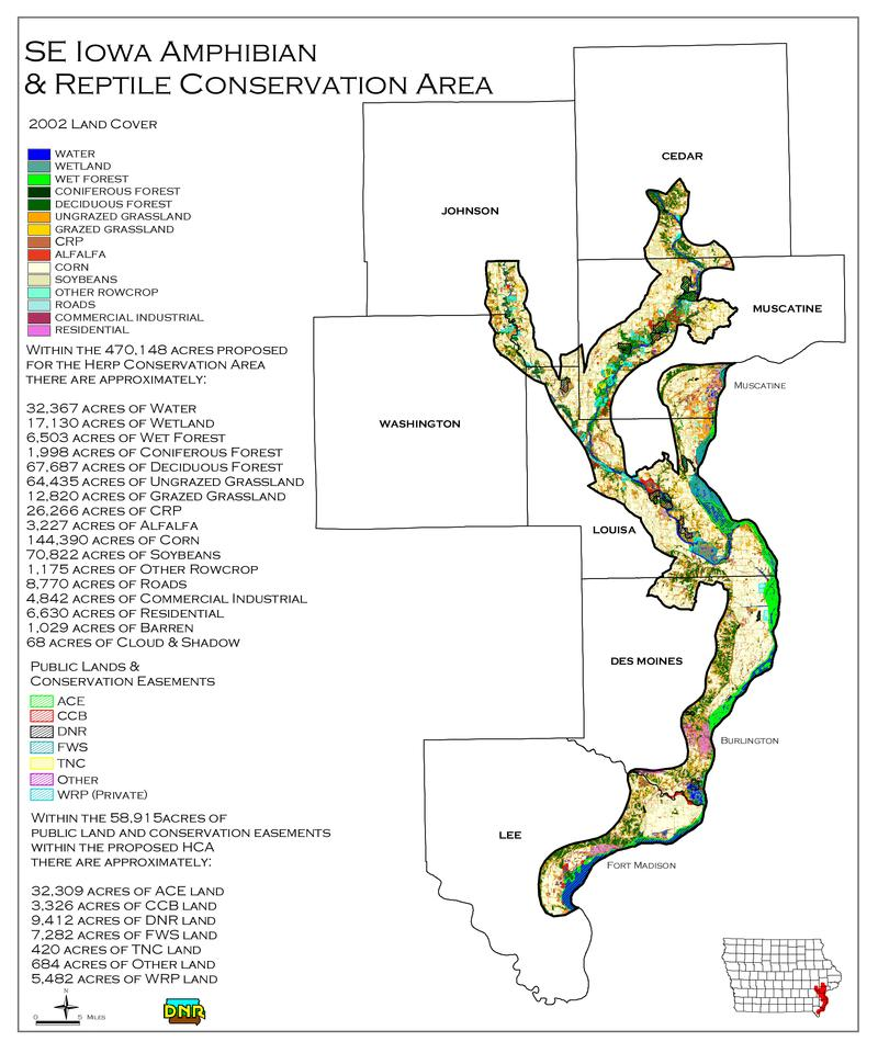Map of Amphibian and Reptile Conservation Area