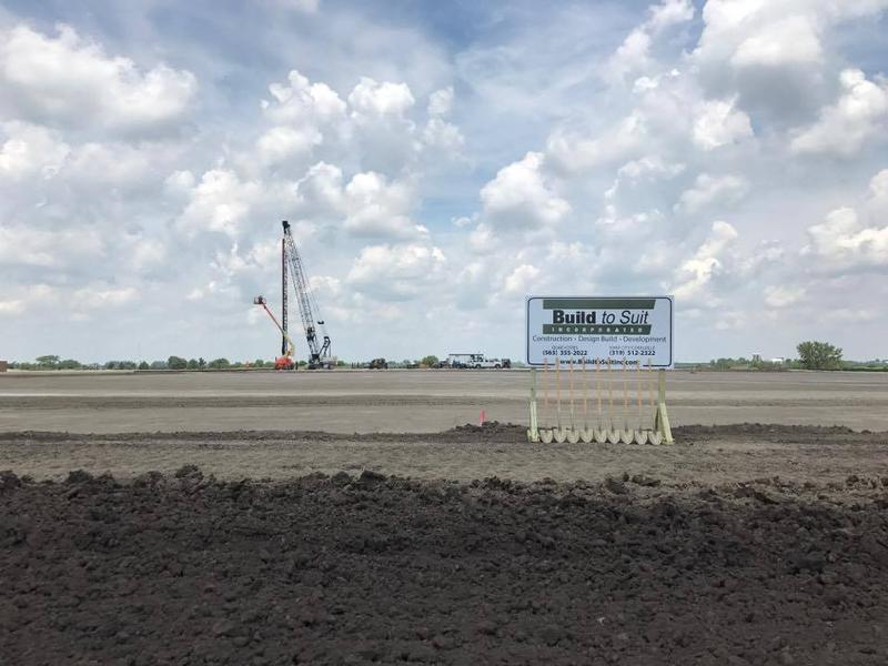 The site of the future BettPlex sports complex at Middle Road and Forest Grove near Interstate 80 in Bettendorf.