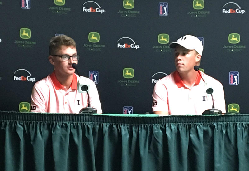 Dylan Meyer (left) and Nick Hardy, teammates at the University of Illinois, received sponsor exemptions for the 2017 John Deere Classic.