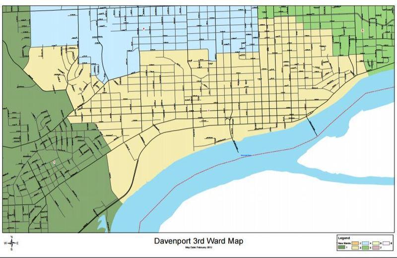 Map of Davenport's third ward.