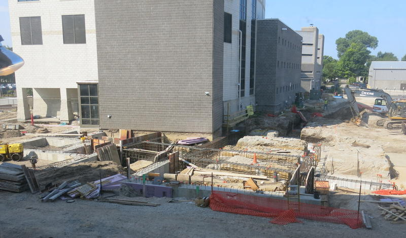 View of the construction site from the 2nd floor of the courthouse