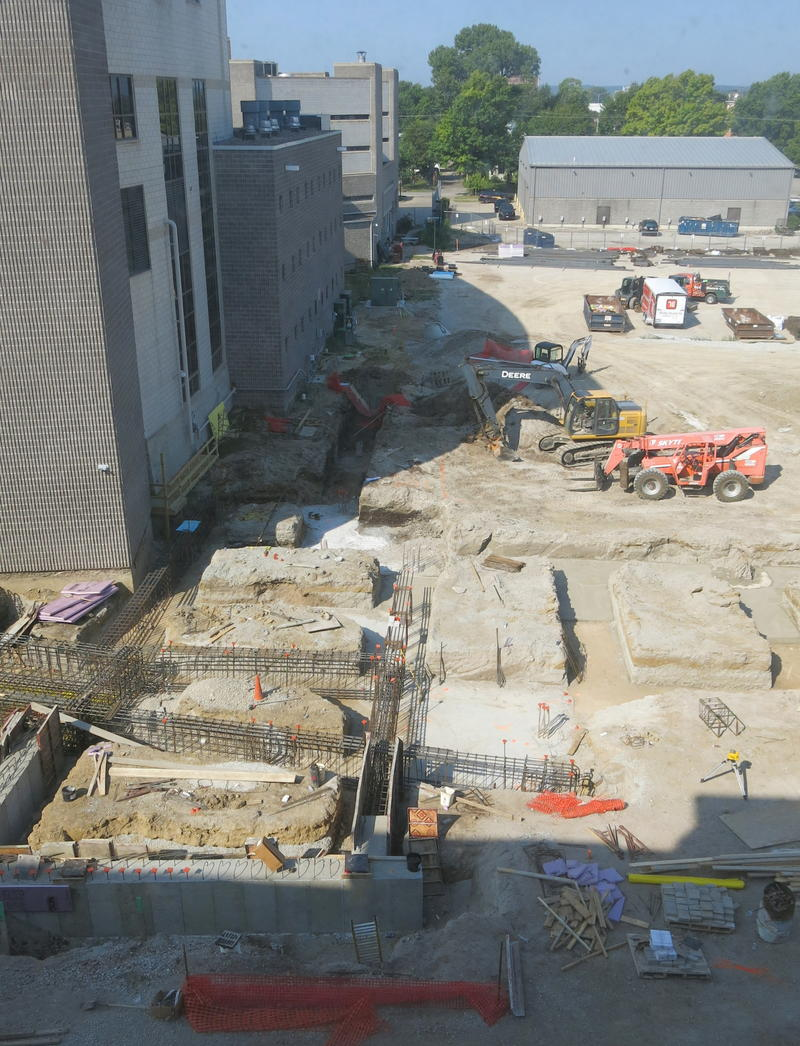 View of the construction site from the 3rd floor of the courthouse