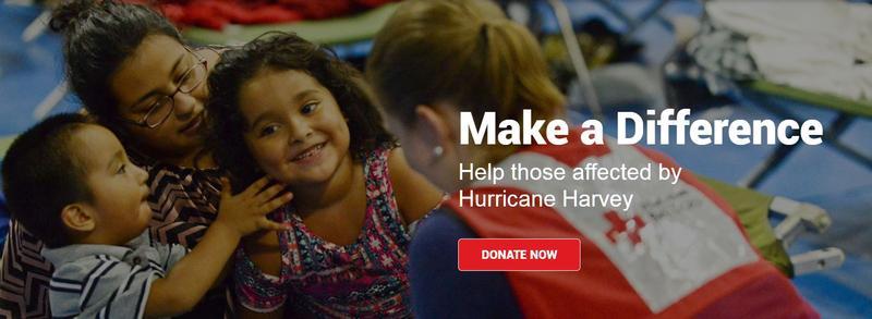 Screenshot from the Red Cross website