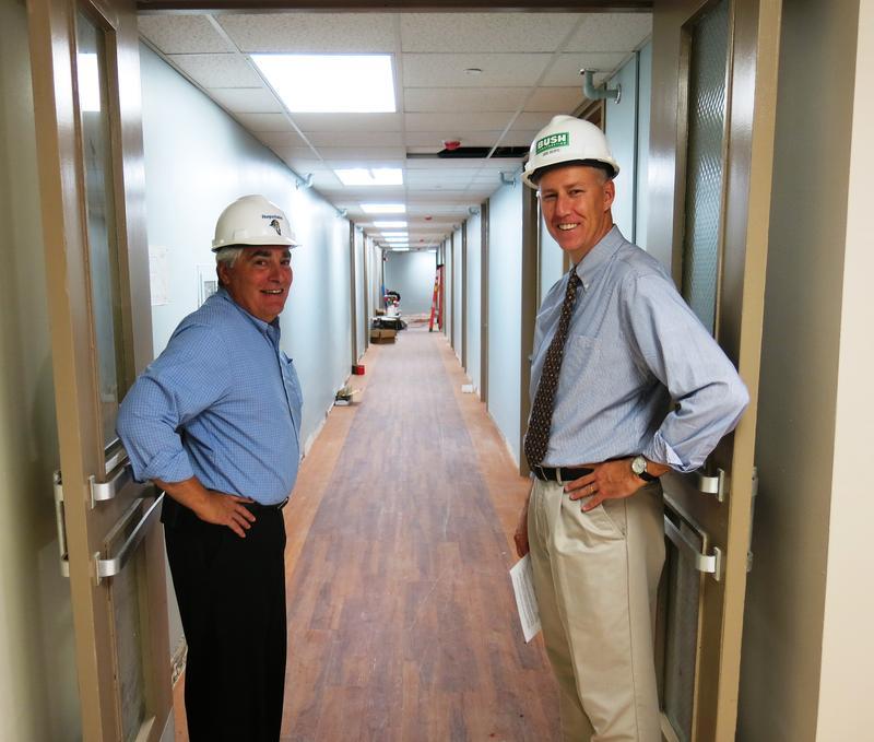 Dir. of Facilities Joe Scifo (l) and VP of Finance Kirk Anderson (r)