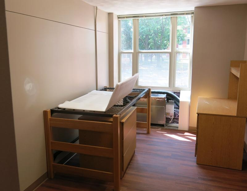 A single room in Westerlin - not quite ready for a new resident.