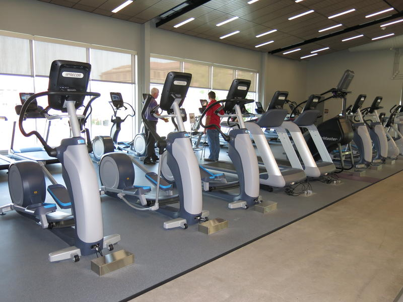 A variety of cardio exercise machines