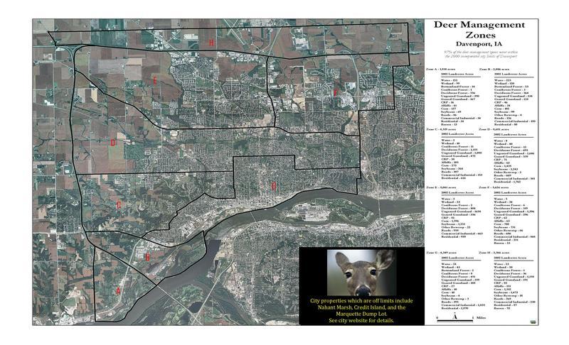 Deer zones in Davenport