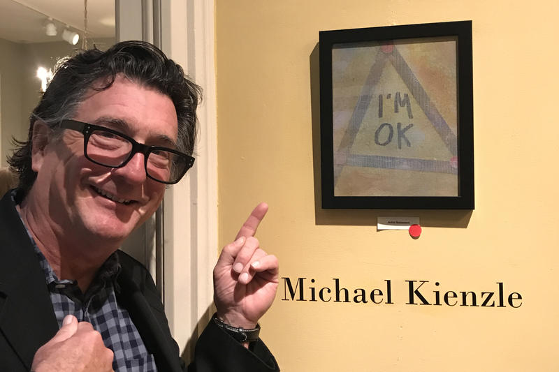 Michael Kienzle's work is on display at the Hudson River Gallery in Iowa City through November 11.
