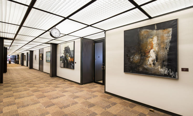 Central hallway, East building, John Deere headquarters