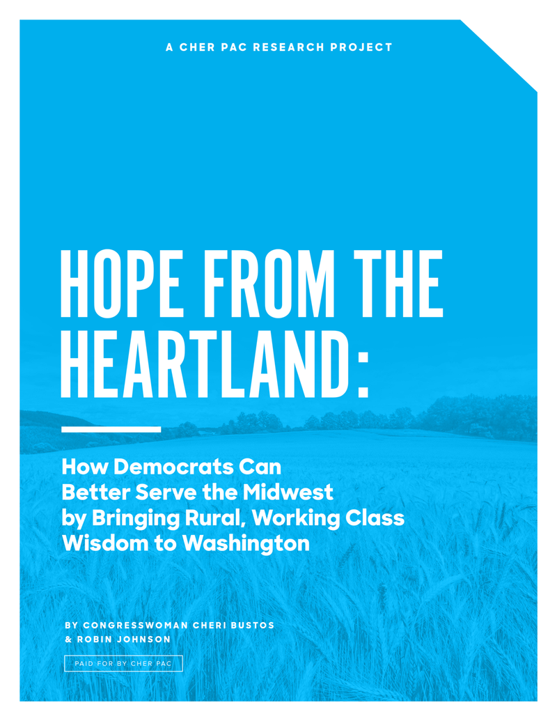 Cover of Hope from the Heartland, How Democrats Can Better Serve the Midwest by Bringing Rural Working Class Wisdom to Washington