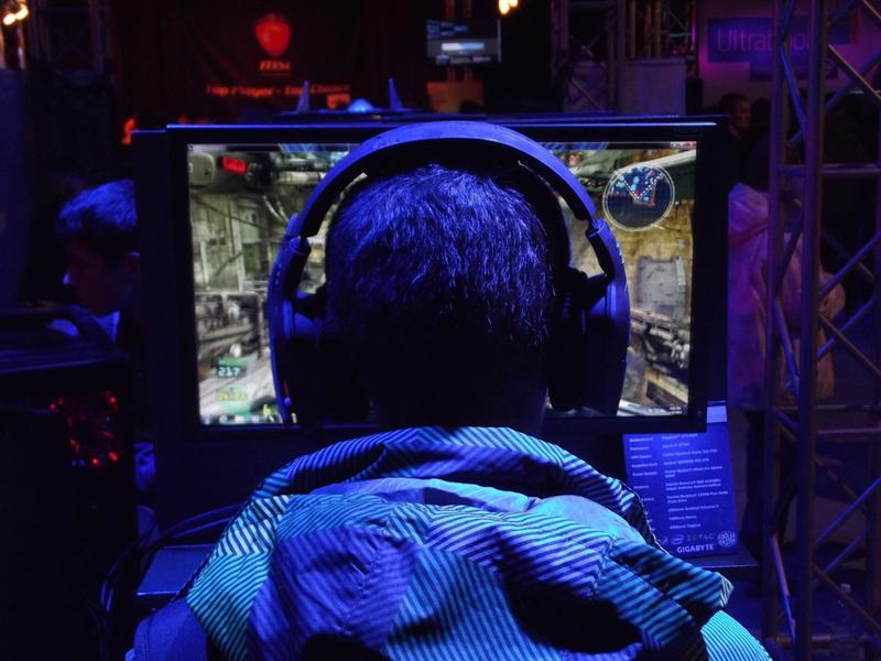 A gamer plays League of Legends, one of the video games the new varsity e-sports team at St. Ambrose will play.