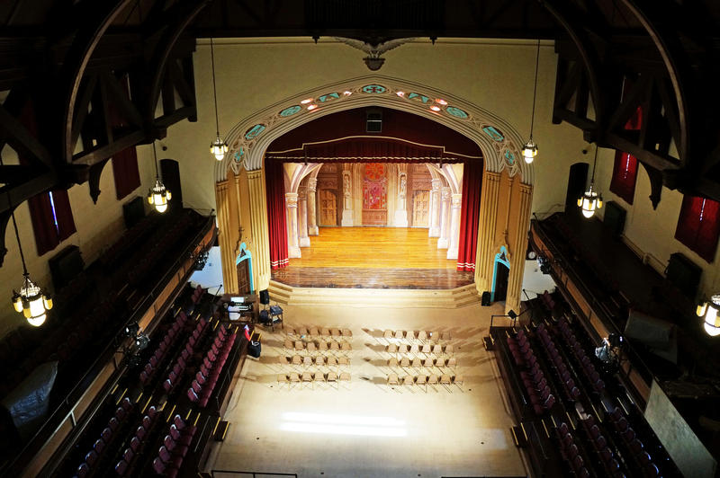 View of the auditorium from the balcony