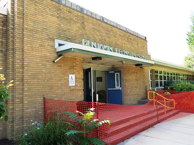 Franklin Elementary School entrance, Moline, IL.