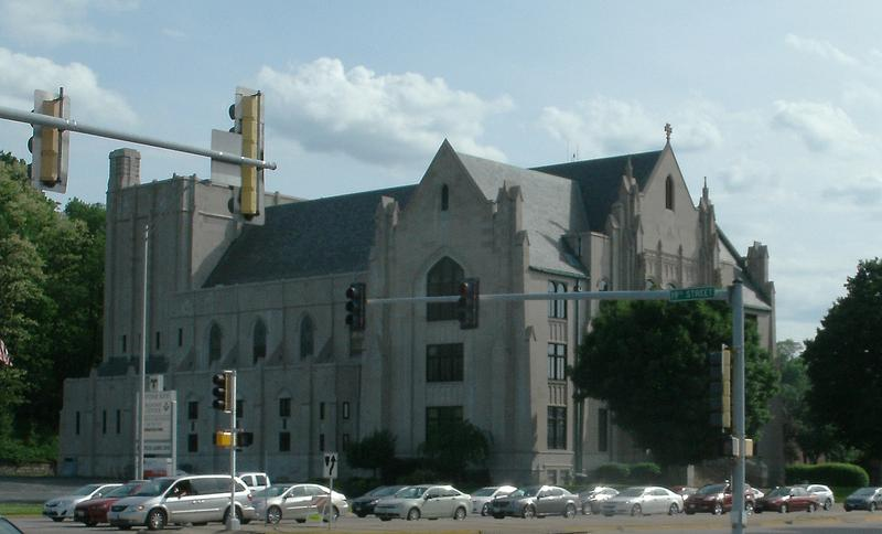 Northeast side of the Scottish Rite Cathedral from across 19th St. & 7th Av. (file)