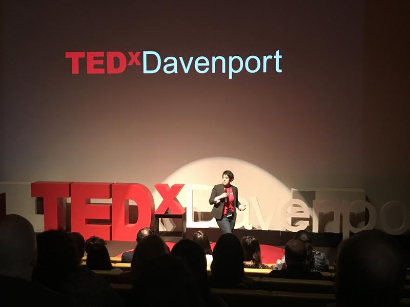 Andrea Olson, event director and licensee of TEDxDavenport