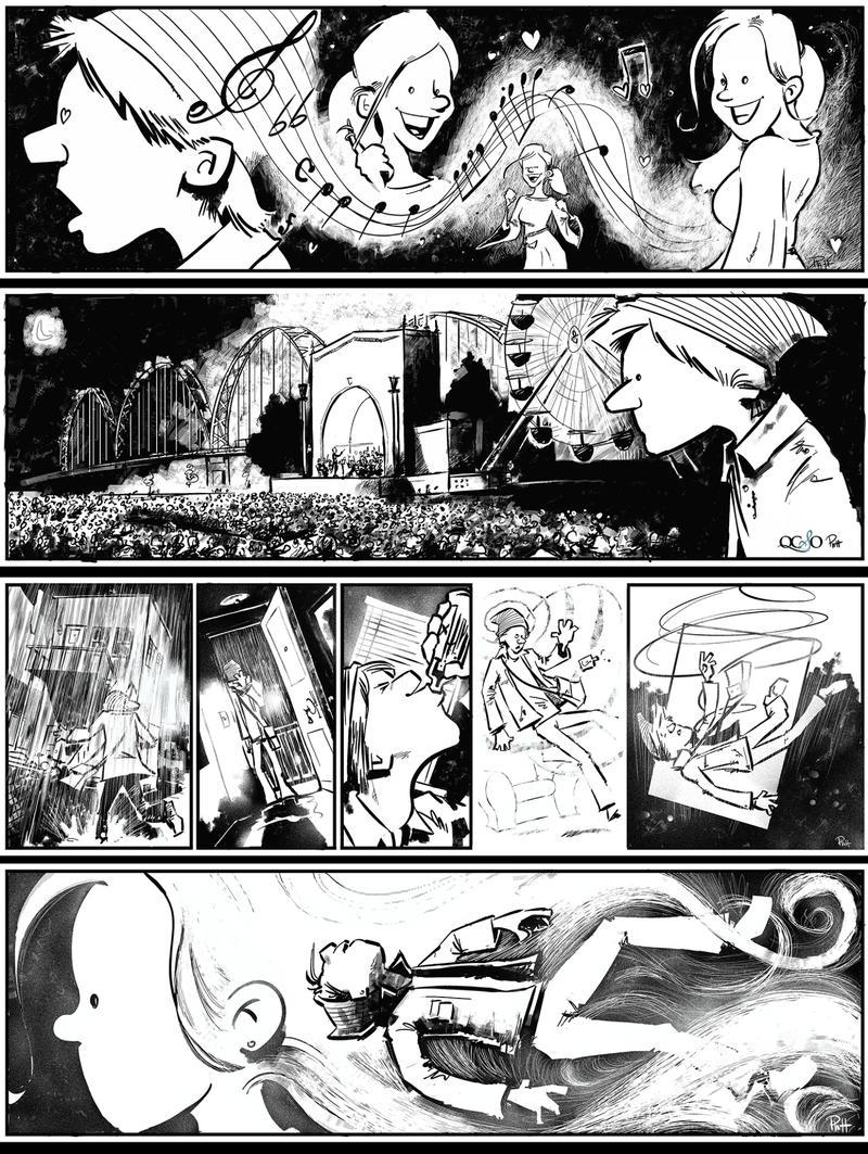 "Jason Platt's modernized illustrations of ""Symphony Fantastique"""