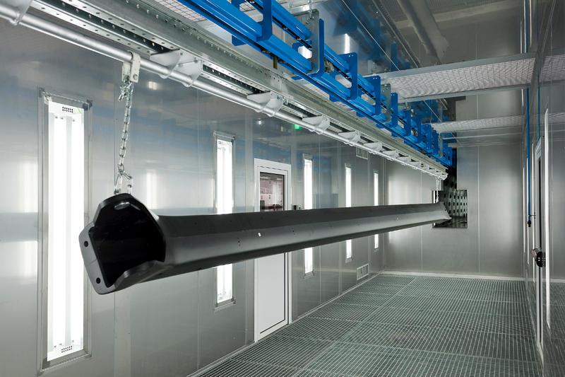 One step in manufacturing a carbon fiber boom