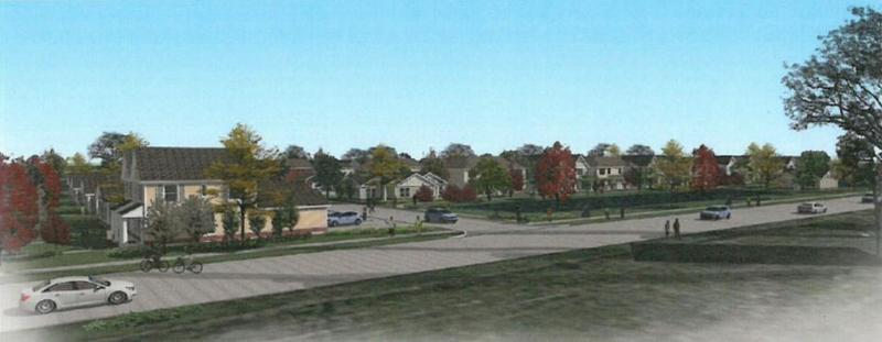 Street view of the proposed Lincoln Homes redevelopement.