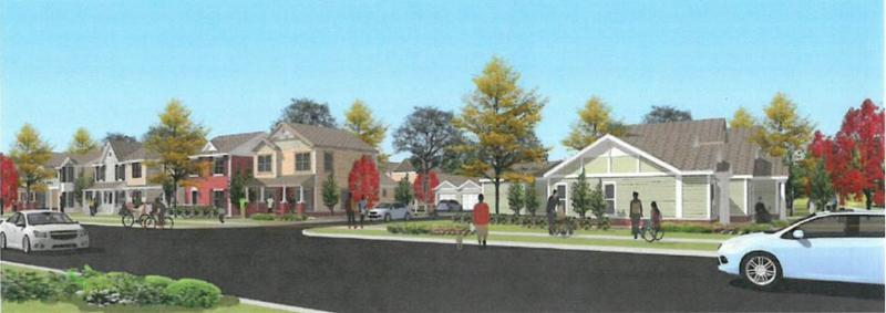 Animated image of what Lincoln Homes will look like.