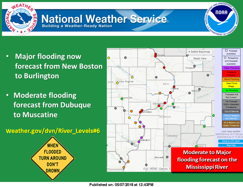 Screenshot of the weather service's flood forecast graphic