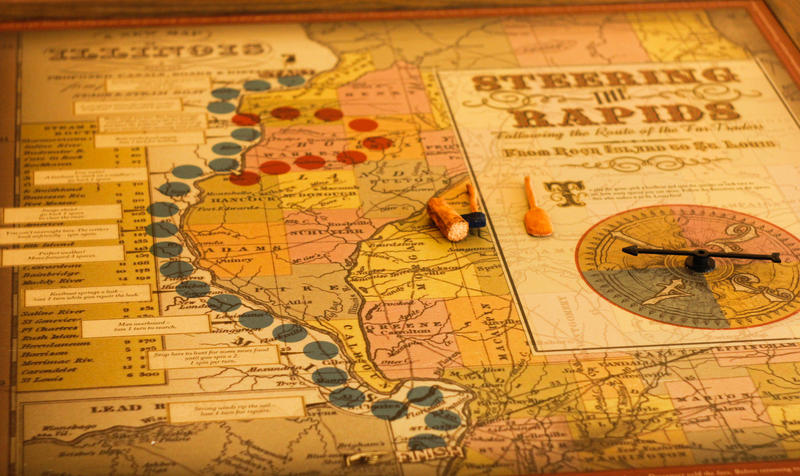 Situated inside the east wing is a board game where visitors can simulate riverboat navigation from the 1800s.