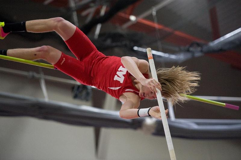 Monmouth College pole vaulter, Dan Evers
