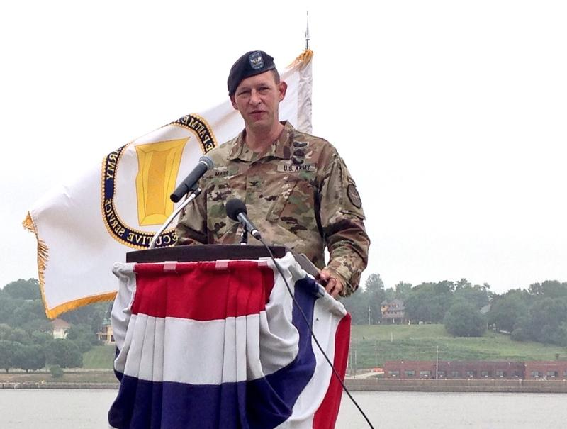 Col. Stephen Marr was given command Wednesday of the Rock Island Arsenal's U.S. Army Garrison