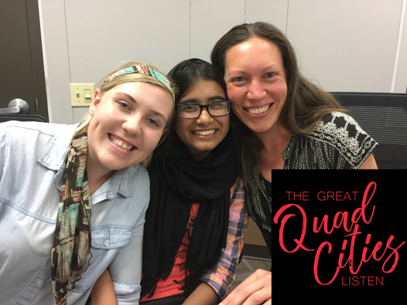 "Emerald Johnson, Meghann Hall, and Hooria Tariq for ""The Great Quad Cities Listen"""