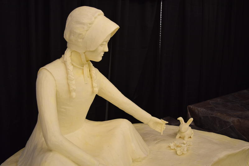 One of Pratt's daughters sculpted the rabbit for this companion scene.