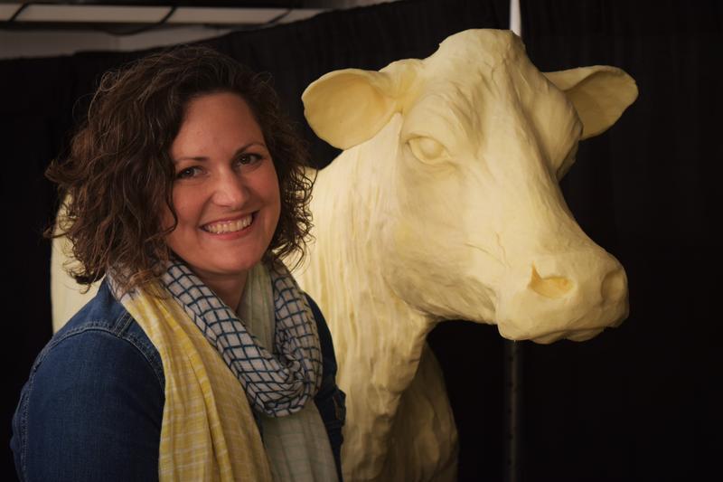 Iowa State Fair Butter Sculptor, Sarah Pratt