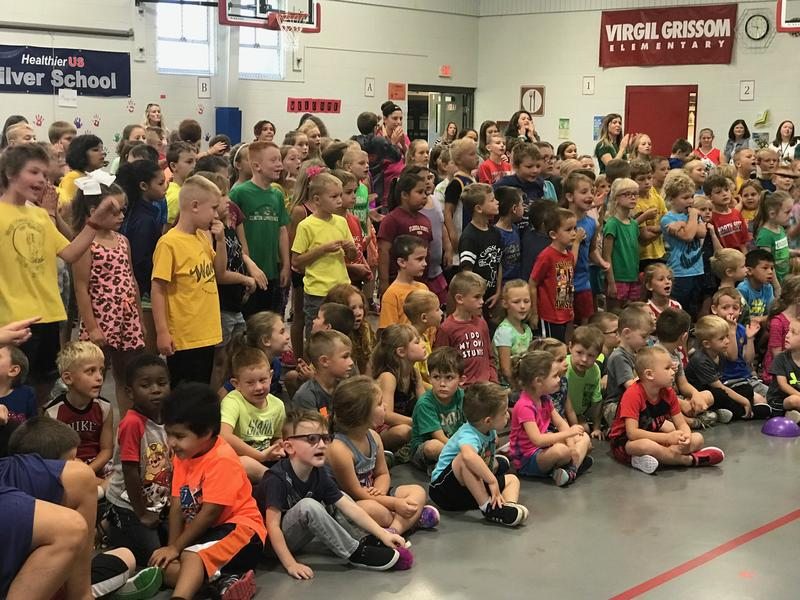 The kickoff of Challenge 5 and Strive for Less Than 5 was held at Grissom Elementary School, Princeton, IA.