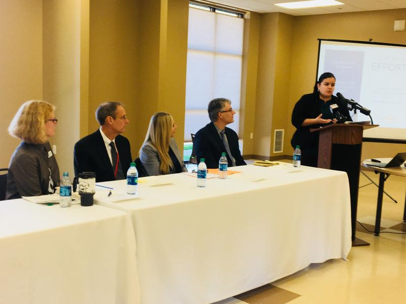 Photo of the panel for the first Census 2020 session in Rock Island County