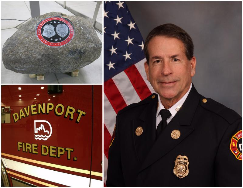 The late Davenport Fire Marshal & Assistant Chief Michael Hayman
