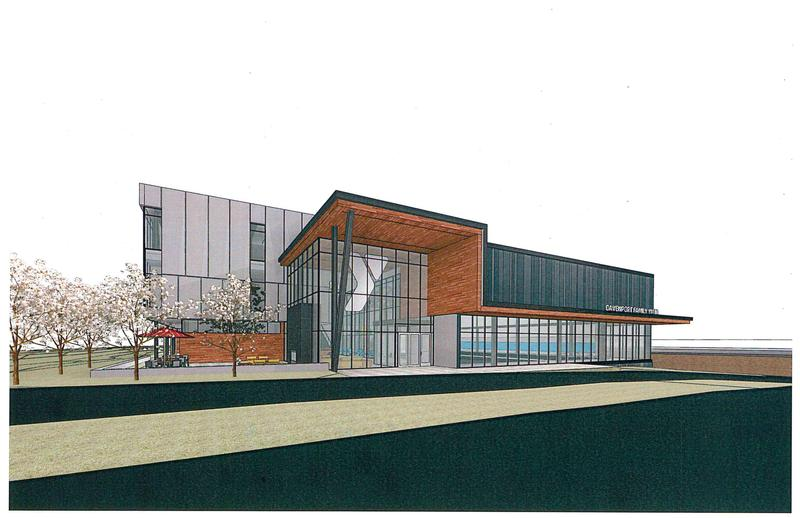 Design drawing of the new YMCA planned for downtown Davenport