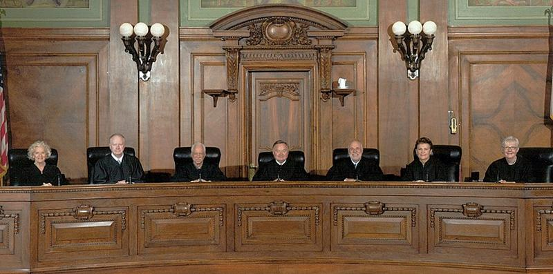 Portrait of current Illinois Supreme Court justices