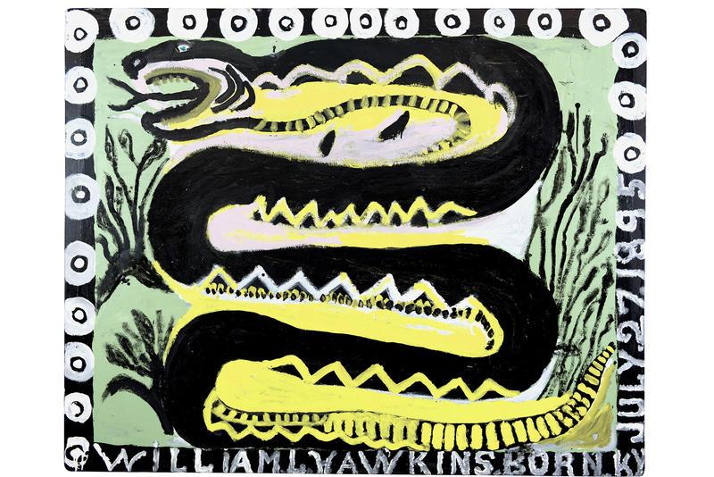"""Rattlesnake #3"" (1988) by William L. Hawkins"