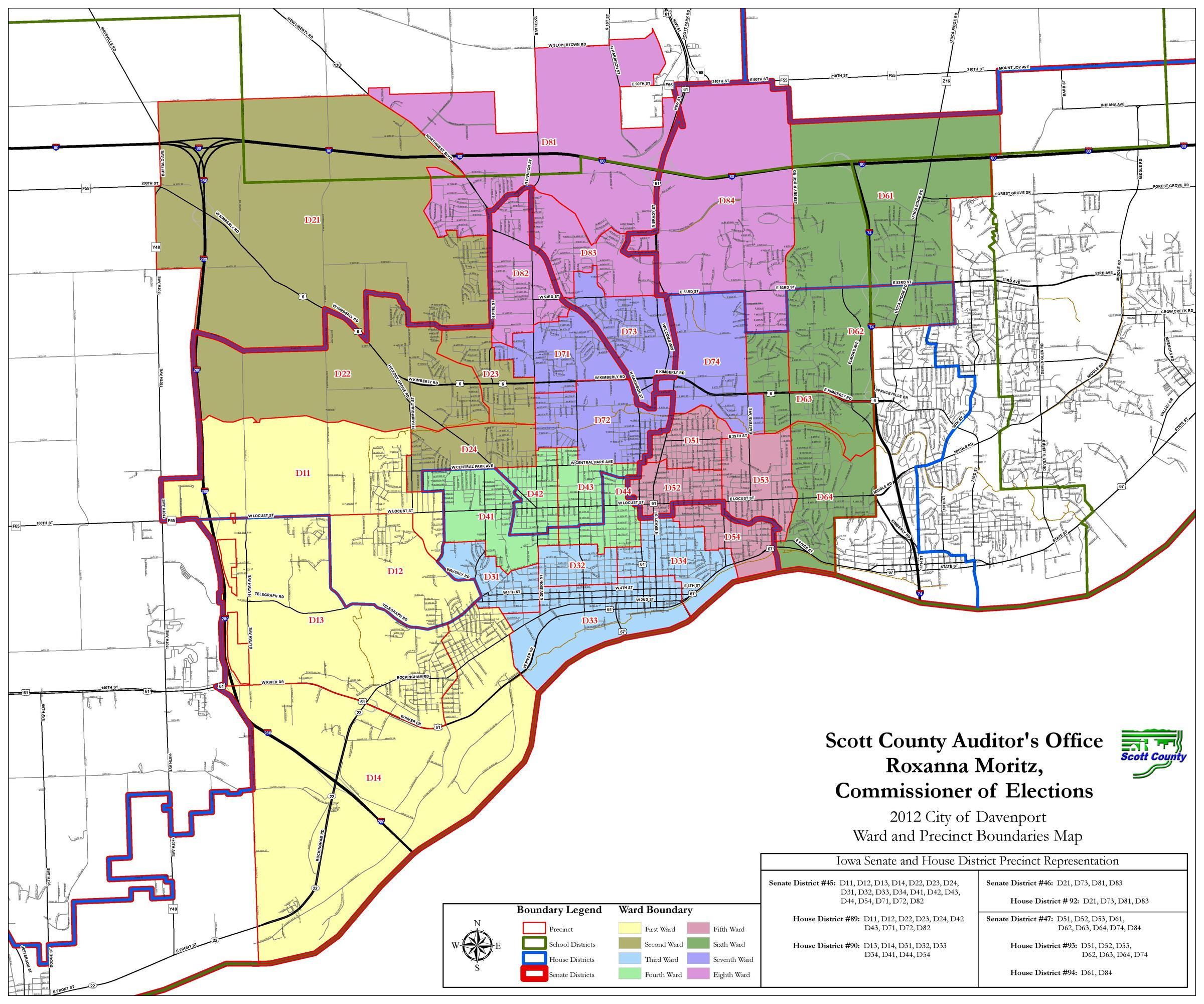 Davenport Iowa Map Helderateliers