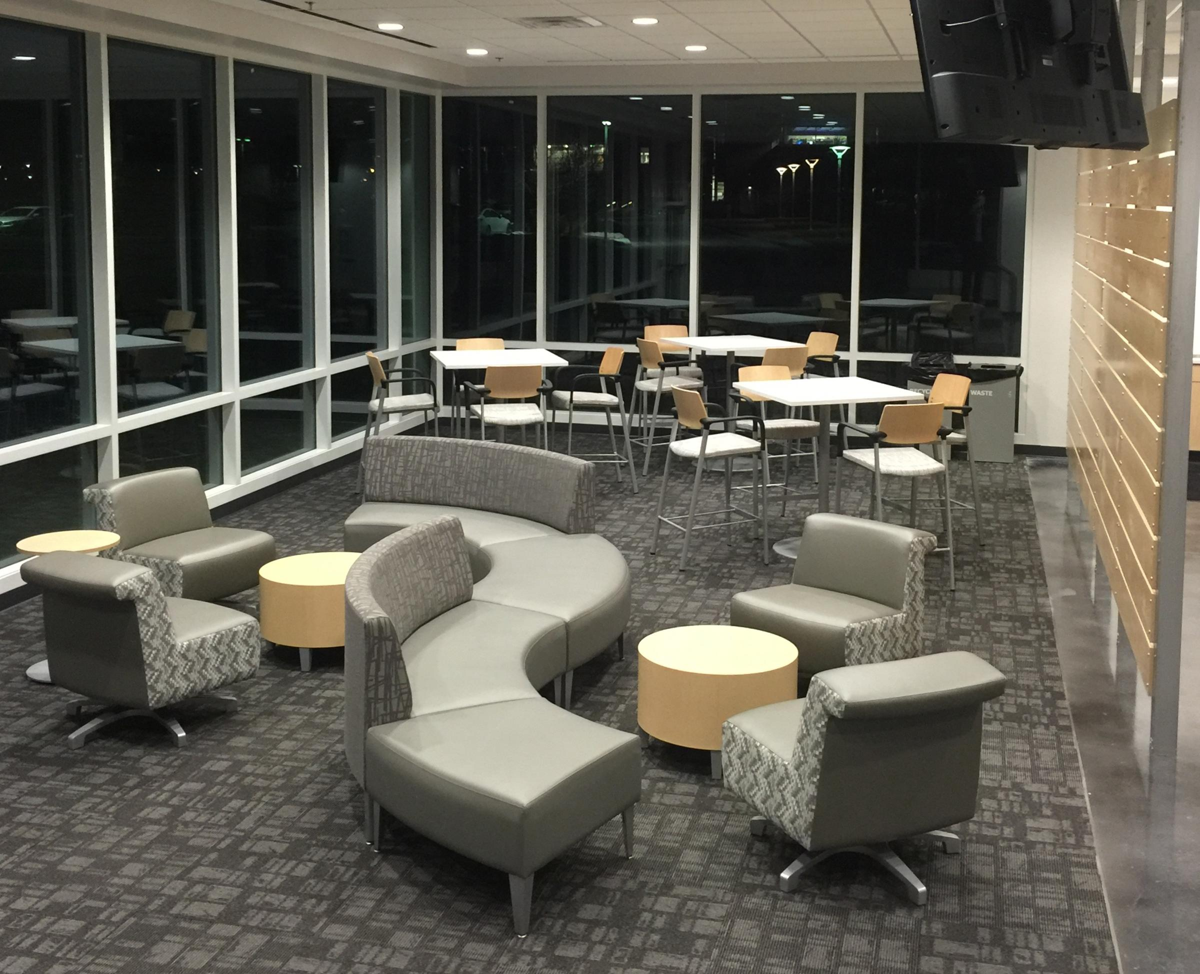Student lounge in the new Birchwood Learning Center in Davenport & UI Tippie Business College to Open Permanent Location | WVIK