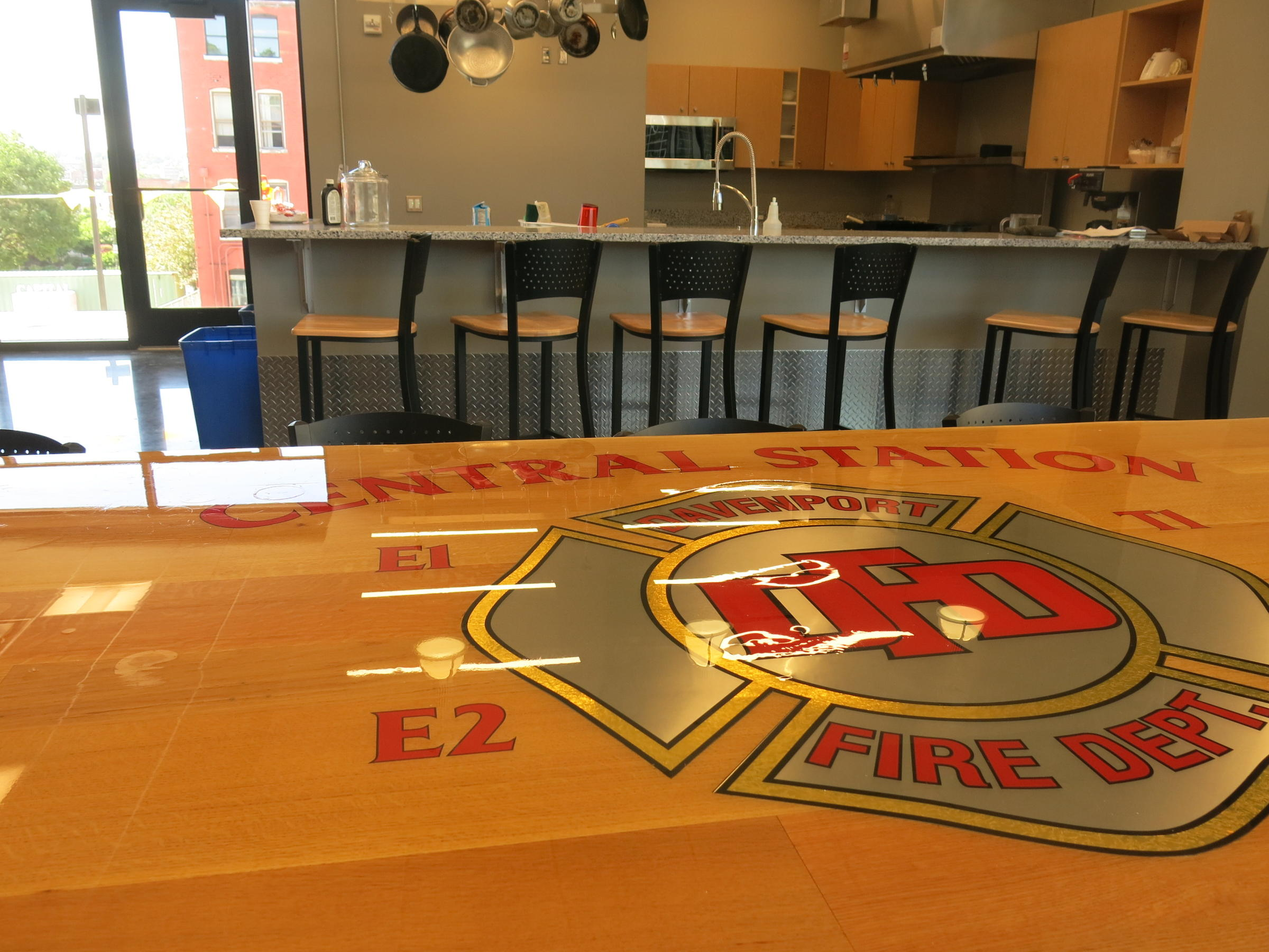 Retired Firefighters Tour Central Fire Station Addition   WVIK