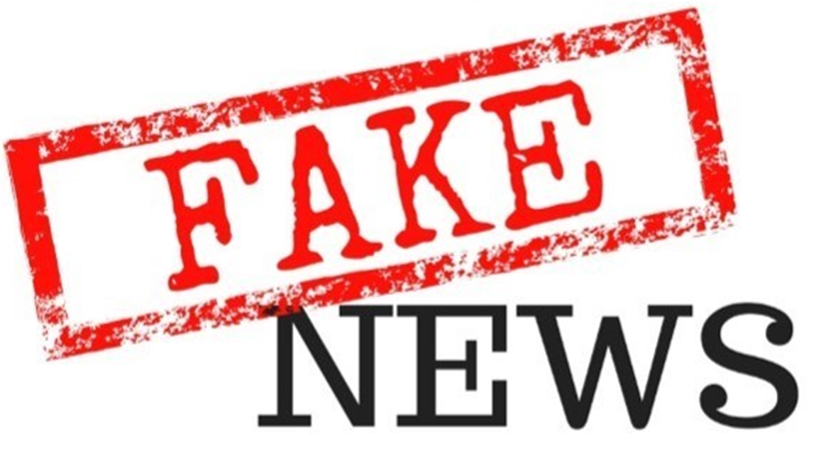 graphic that says fake news