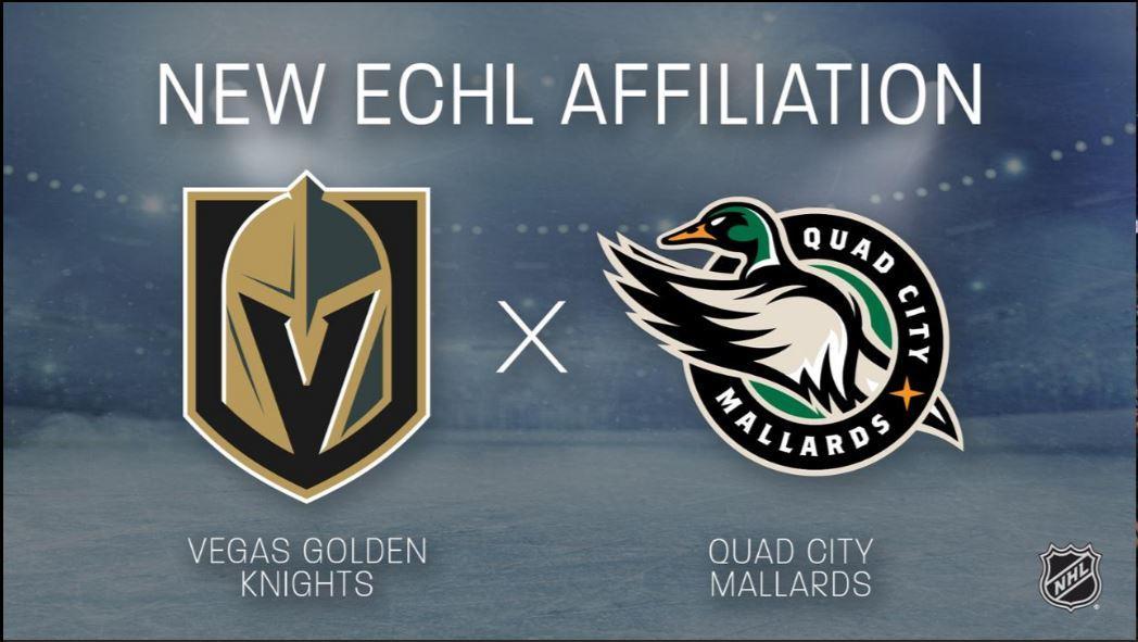 Vegas Golden Knights confirm Quad City Mallards as ECHL affiliate