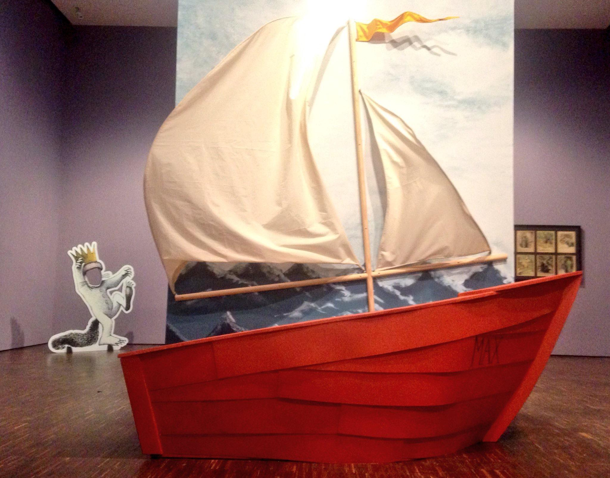 Visitors to the exhibit can pose behind a life-size model of Max\u0027s sailboat from the book as well as his tent. & Where The Wild Things Are\