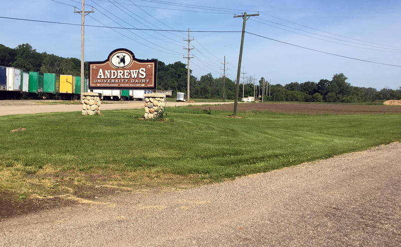 The Andrews University Dairy sign