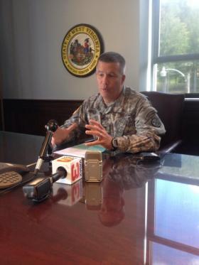 Adjutant General James Hoyer of the West Virginia National Guard