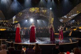Internationally renowned for alluring stage productions and songs of heartwarming inspiration, Celtic Woman present their new chapter of musical enchantment, Celtic Woman: Home For Christmas. Pictured (l-r): Susan McFadden, Méav Ni Mhaolchatha, Lisa Lambe
