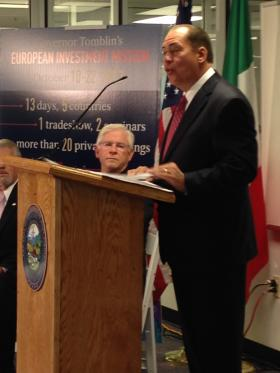 Governor Earl Ray Tomblin announced Sogefi USA's plan to add 250 additional jobs at its Prichard, W.Va., plant.